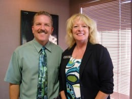 Dr. Simpson and Carolle at Jackson Creek Dental Group