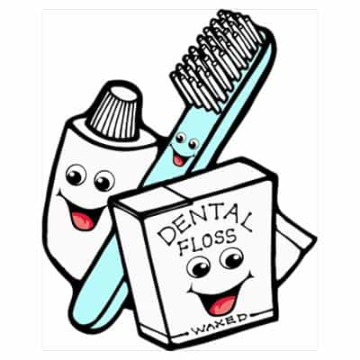 smiling-floss-brush-toothpaste